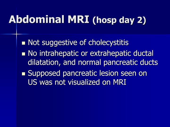 Abdominal MRI