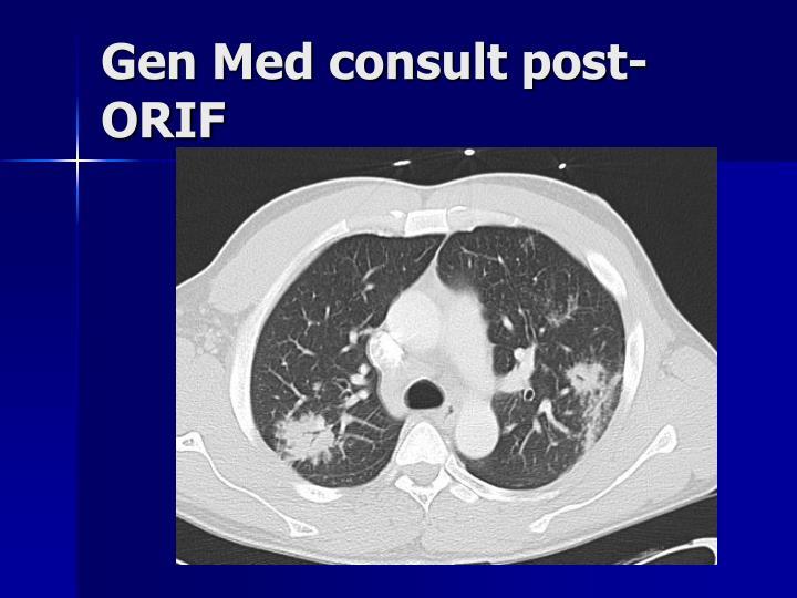 Gen Med consult post-ORIF