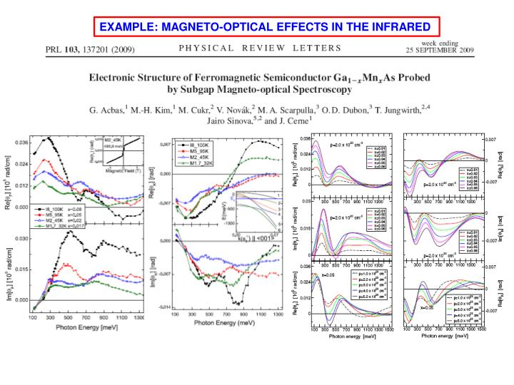EXAMPLE: MAGNETO-OPTICAL EFFECTS IN THE INFRARED