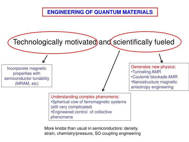 ENGINEERING OF QUANTUM MATERIALS