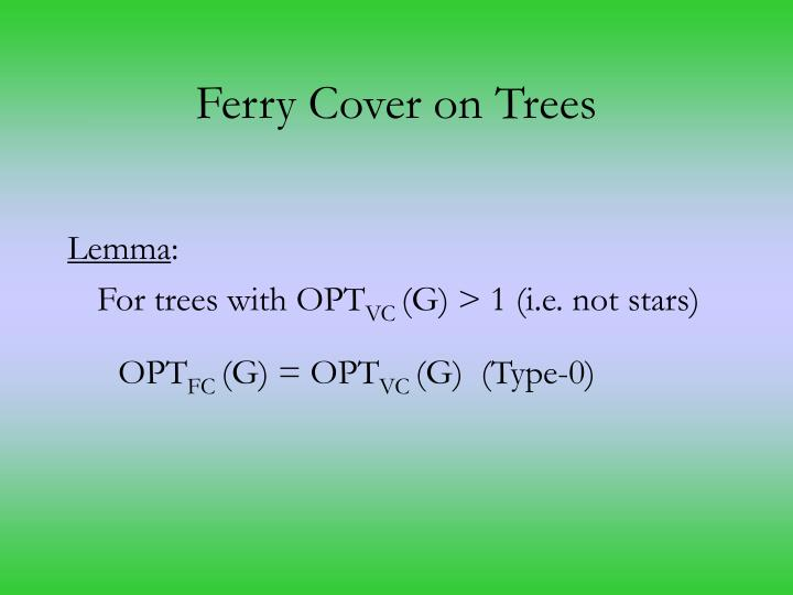 Ferry Cover on Trees