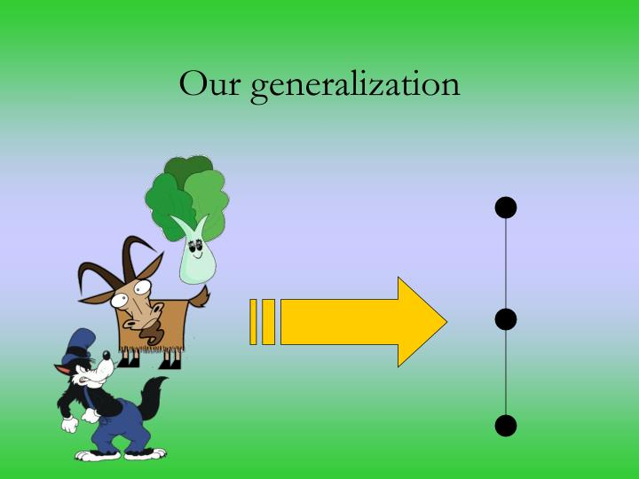 Our generalization