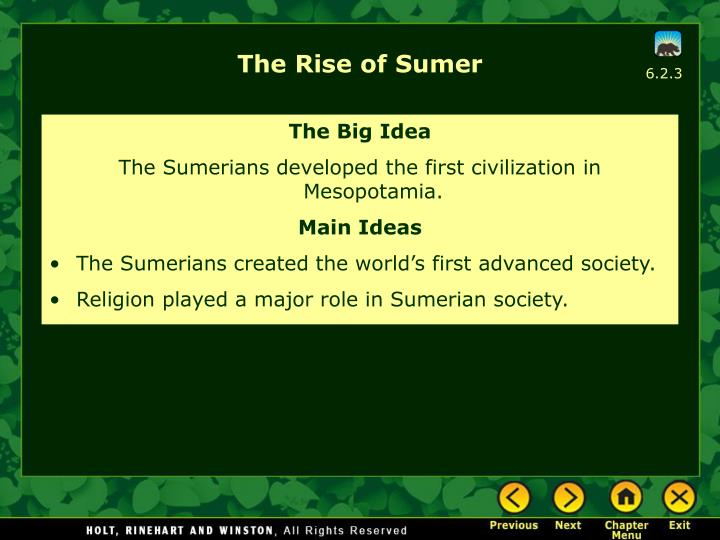 The Rise of Sumer