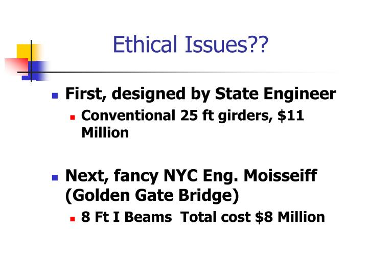 Ethical Issues??