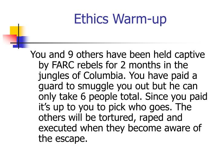 Ethics Warm-up