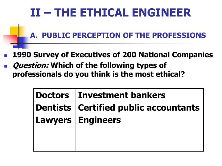 II – THE ETHICAL ENGINEER