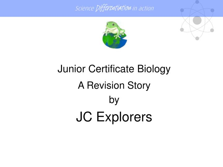 Junior Certificate Biology