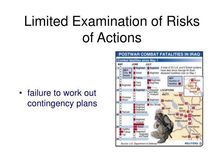 Limited Examination of Risks of Actions