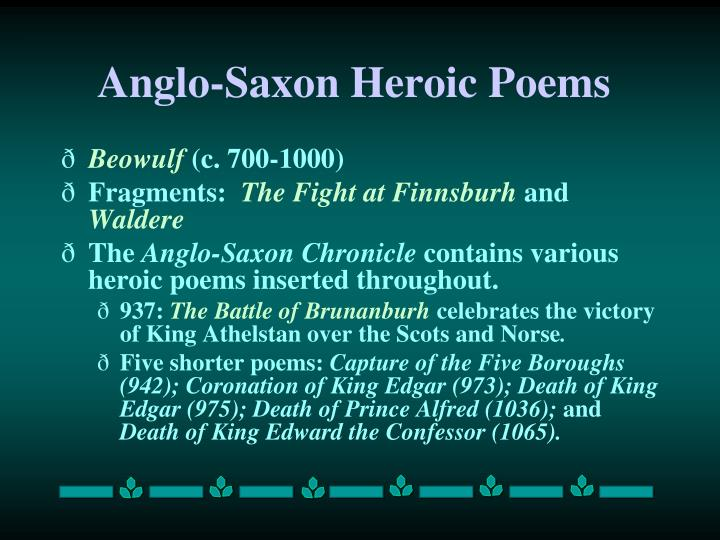 an analysis of the anglo saxon poems beowulf the seafarer and the wanderer Place in 'the wanderer' and anglo-saxon elegy as these themes and images are all common to anglo-saxon poetry, many examples, like the epic beowulf, contain which in both the wanderer and the seafarer are symbols of a solitary existence due to their nature and.