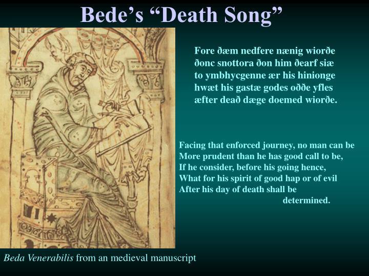 """Bede's """"Death Song"""""""