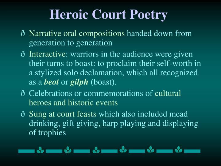 Heroic Court Poetry