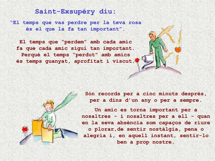 Saint-Exsupéry diu: