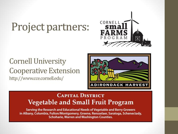 Cornell university cooperative extension http www cce cornell edu