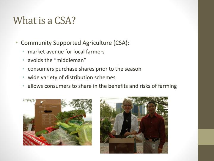 What is a CSA?
