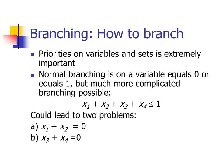 Branching: How to branch