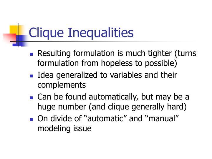 Clique Inequalities