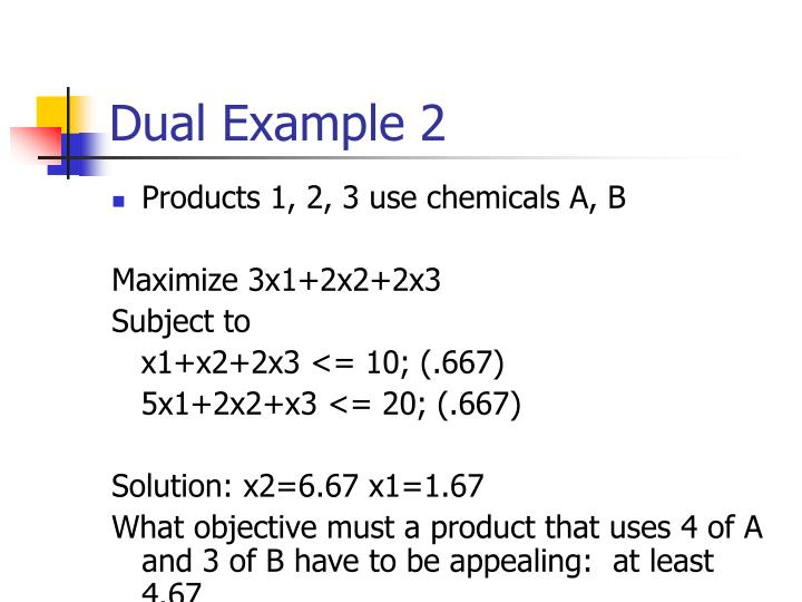 Dual Example 2