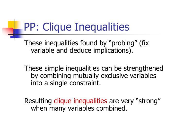 PP: Clique Inequalities
