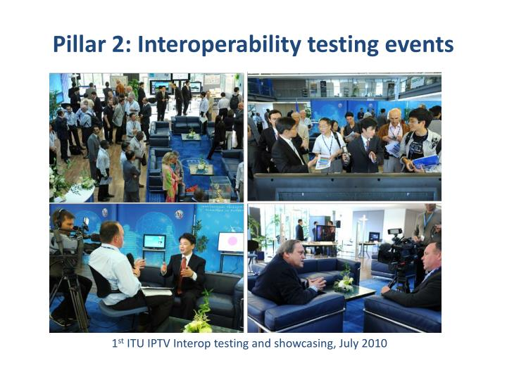 Pillar 2: Interoperability testing events