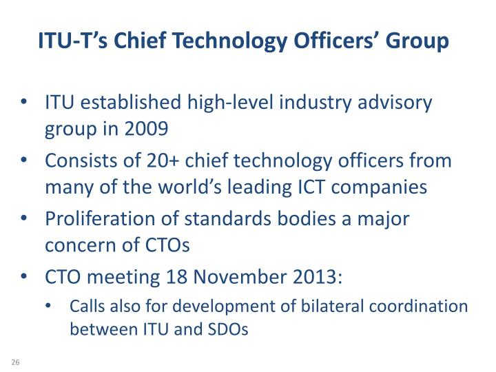 ITU-T's Chief Technology Officers' Group