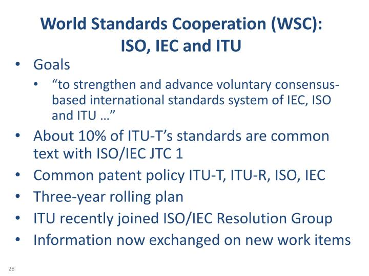 World Standards Cooperation (WSC):