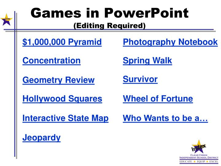 Games in PowerPoint