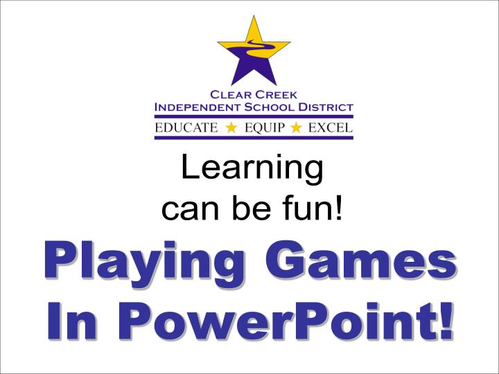 playing games in powerpoint