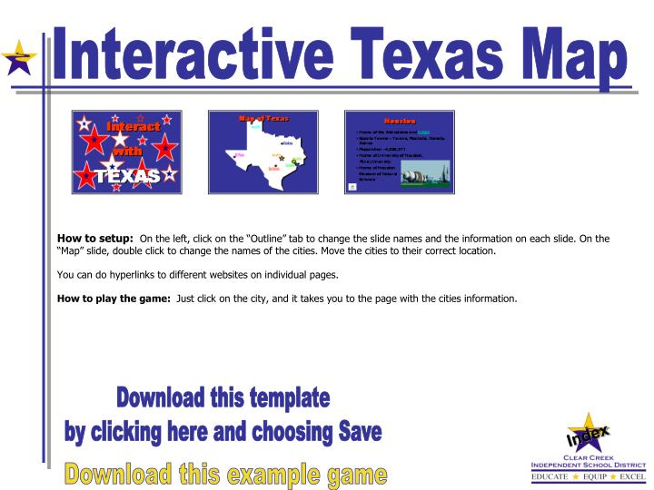 Interactive Texas Map