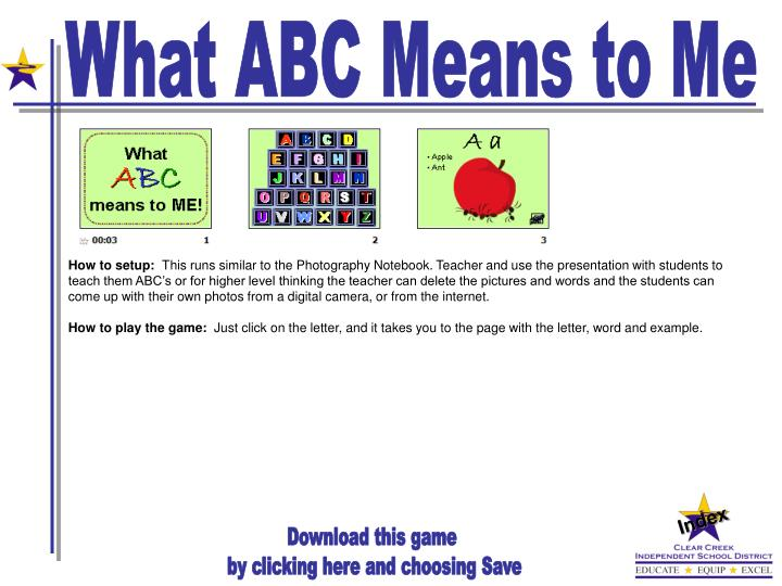 What ABC Means to Me