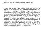 j d merritt the pre raphaelite poetry londra 1966