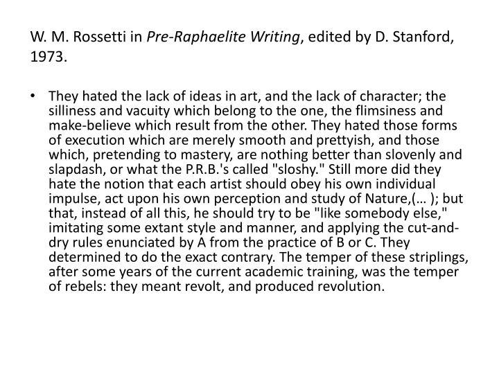W. M. Rossetti in