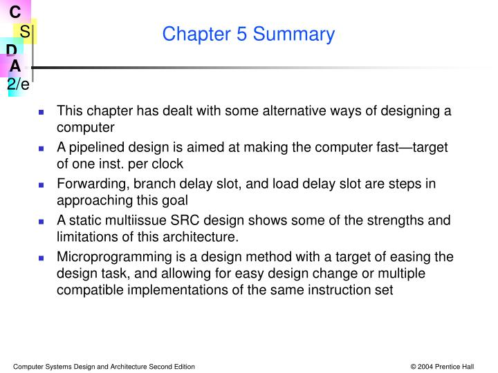 Chapter 5 Summary