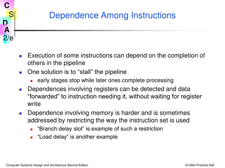 Dependence Among Instructions