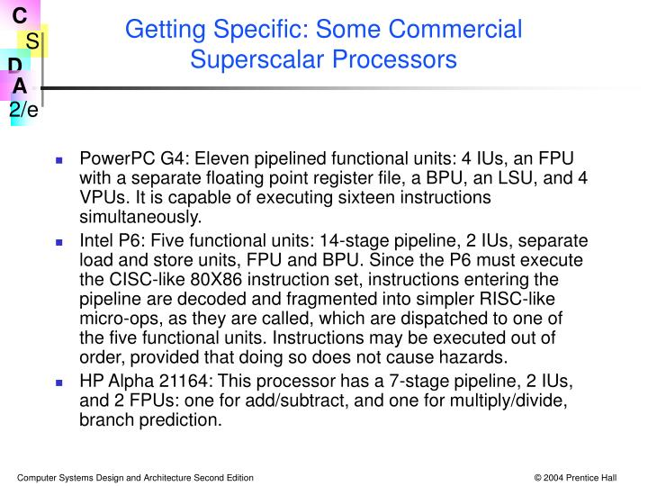 Getting Specific: Some Commercial Superscalar Processors