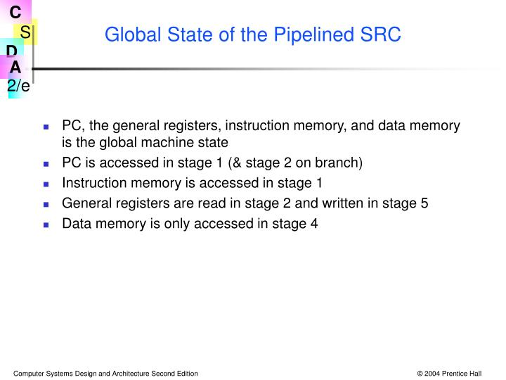 Global State of the Pipelined SRC