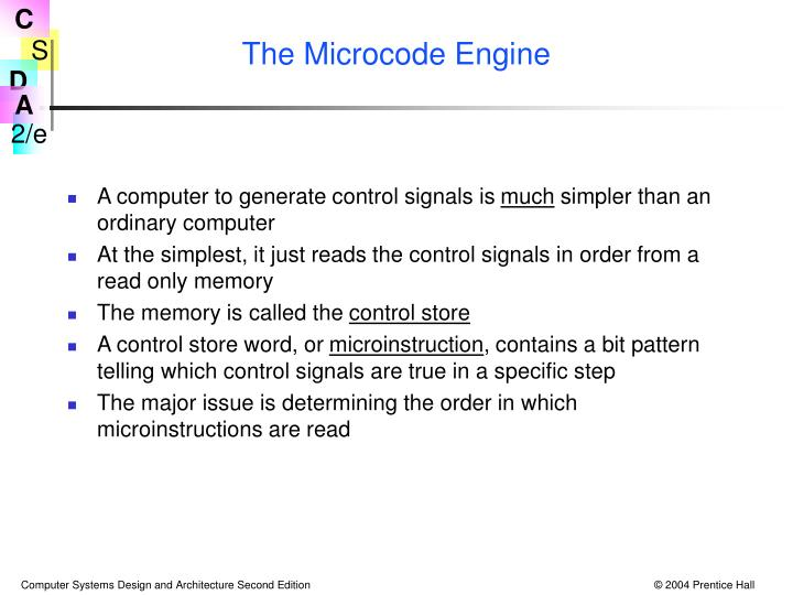 The Microcode Engine