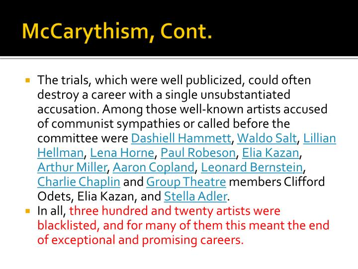 McCarythism
