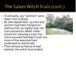 the salem witch trials cont