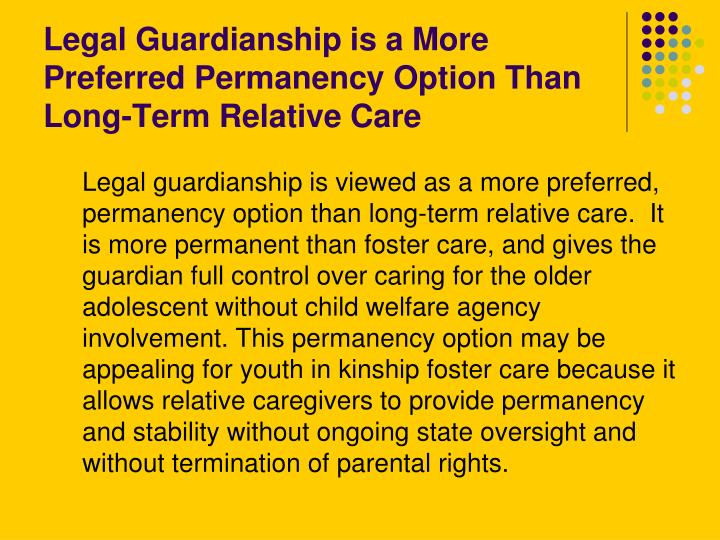 how to give legal guardianship to a relative