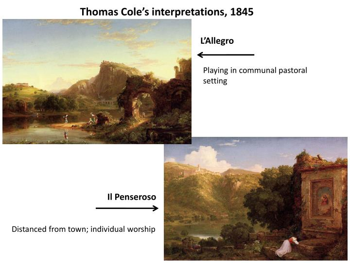 Thomas Cole's interpretations, 1845