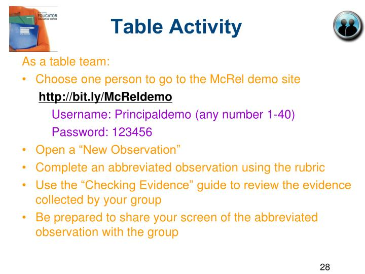 Table Activity