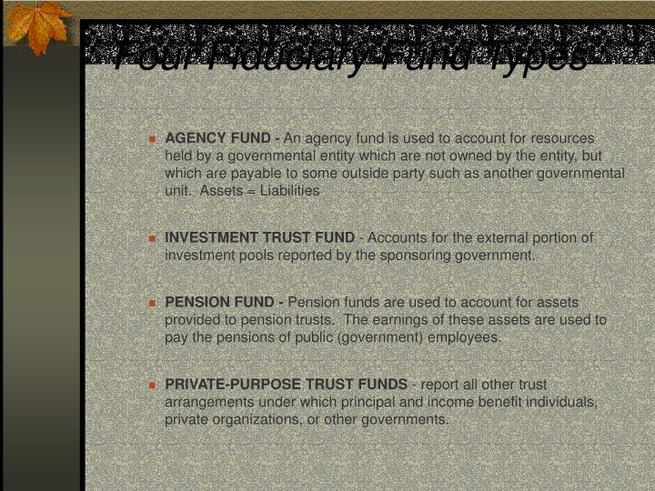 Four Fiduciary Fund Types