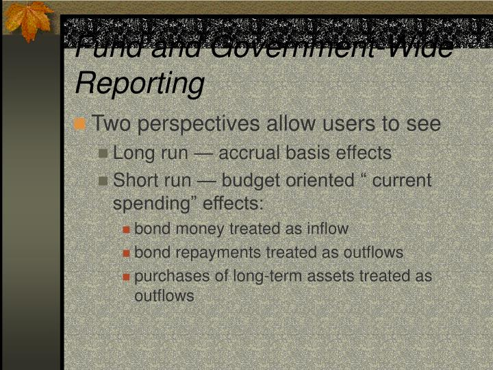 Fund and Government-Wide Reporting