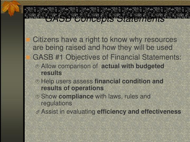 GASB Concepts Statements
