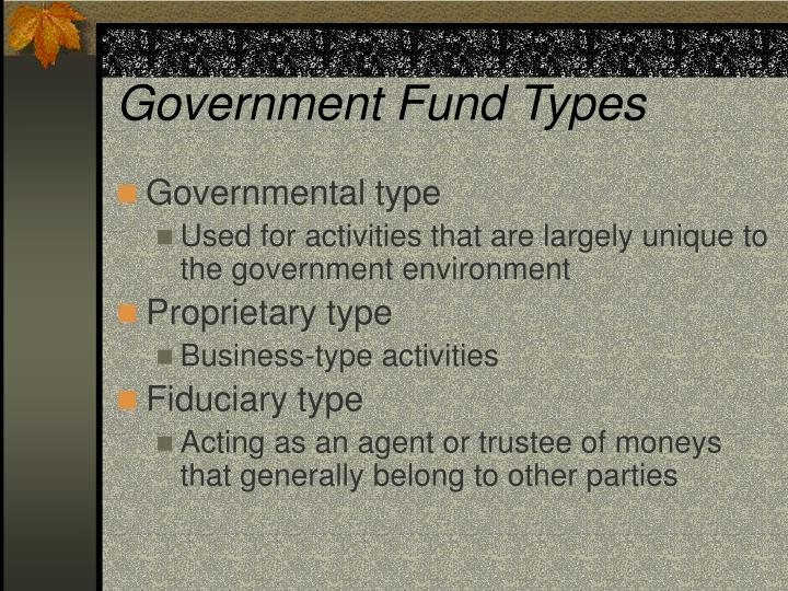 Government Fund Types