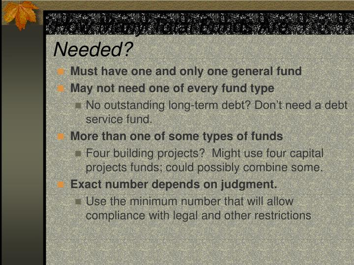 How Many Total Funds Are Needed?