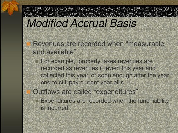 Modified Accrual Basis