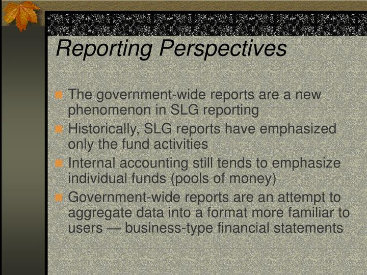 Reporting Perspectives
