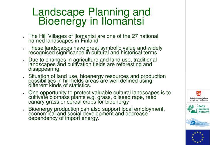 Landscape Planning and Bioenergy in Ilomantsi