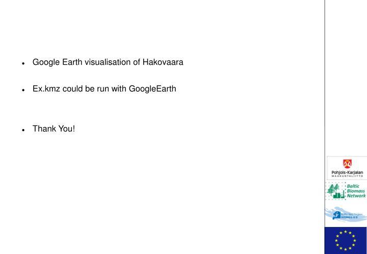 Google Earth visualisation of Hakovaara